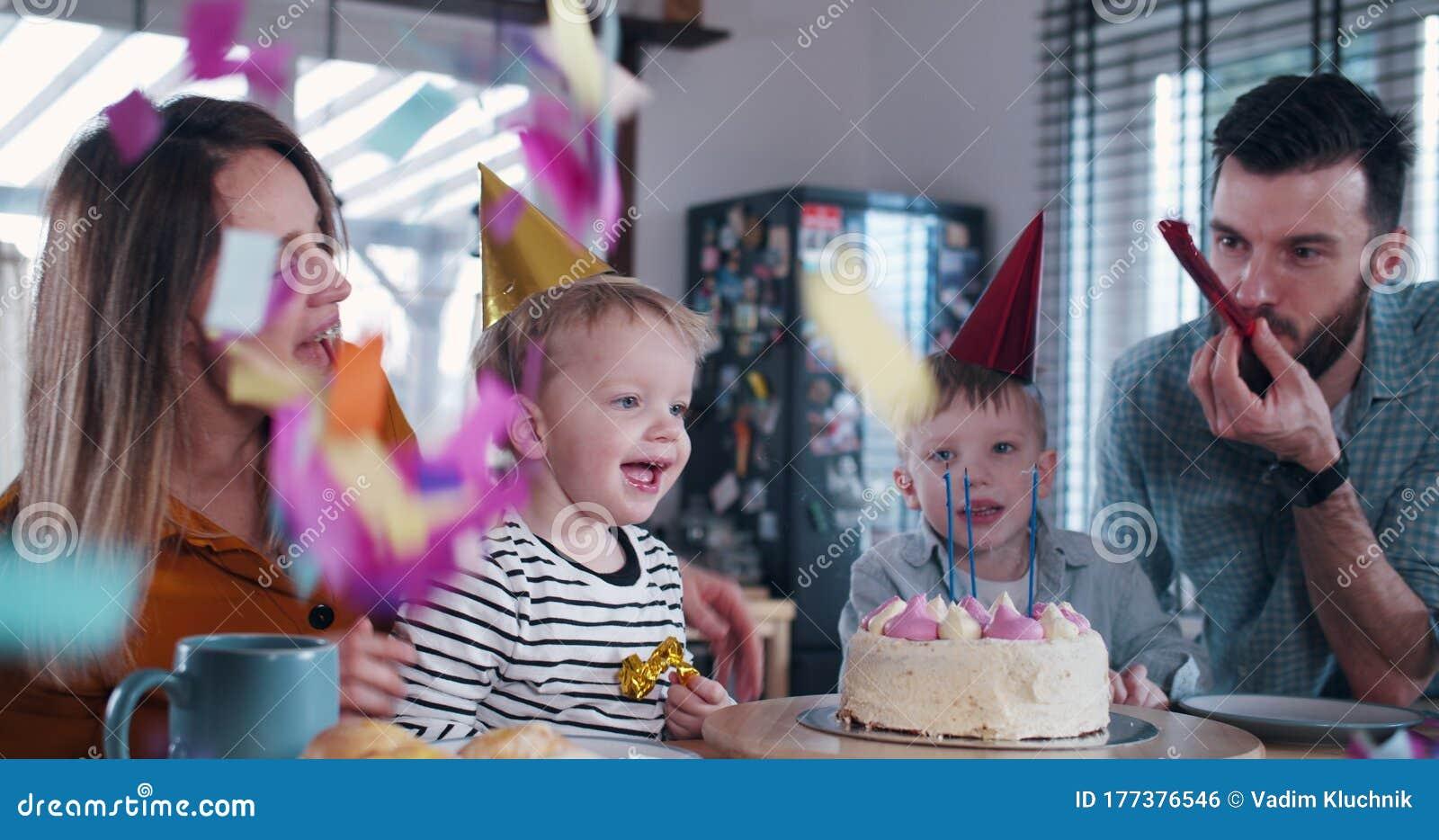 Phenomenal Cute Little 3 Year Old Caucasian Boy Child Blowing On Birthday Funny Birthday Cards Online Bapapcheapnameinfo