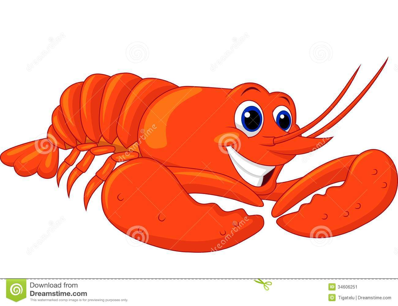 Cute Lobster Cartoon S...
