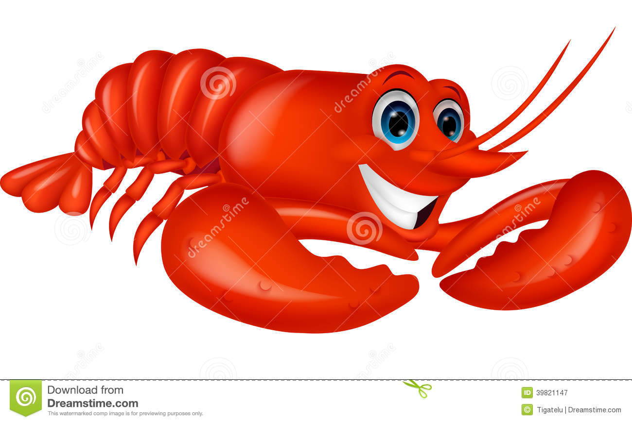Cute Lobster Cartoon Stock Vector - Image: 39821147