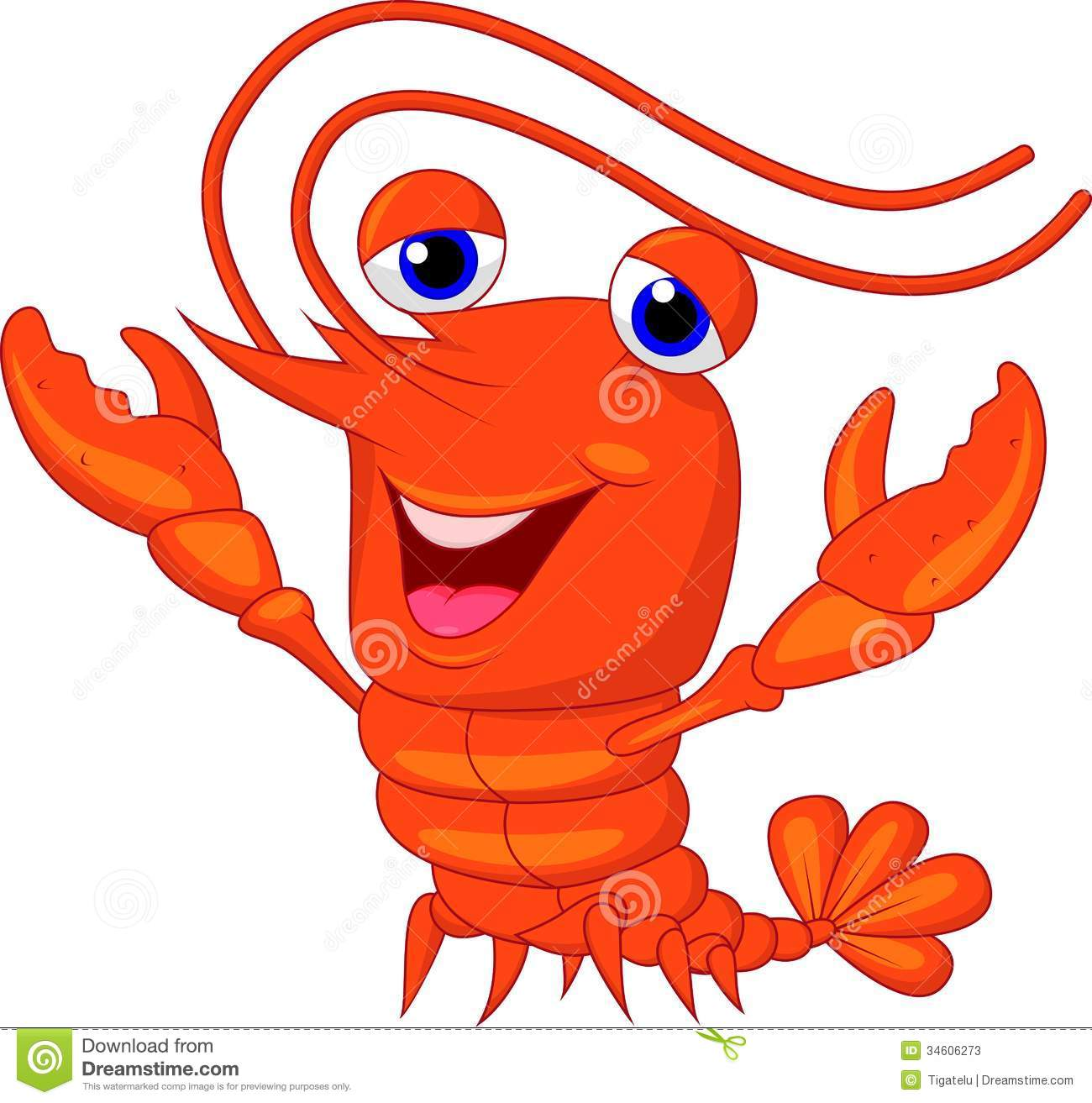 Cute Lobster Cartoon Presenting Stock Photos - Image: 34606273