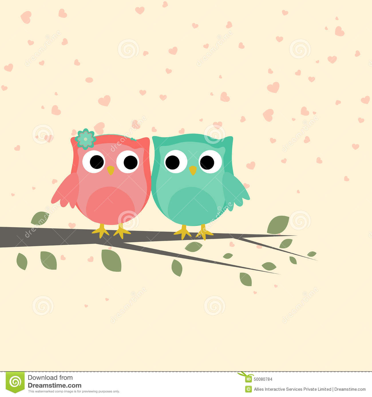 Love Birds couple Wallpaper : cute Love Bird couple For Valentines Day. Stock Illustration - Image: 50080784
