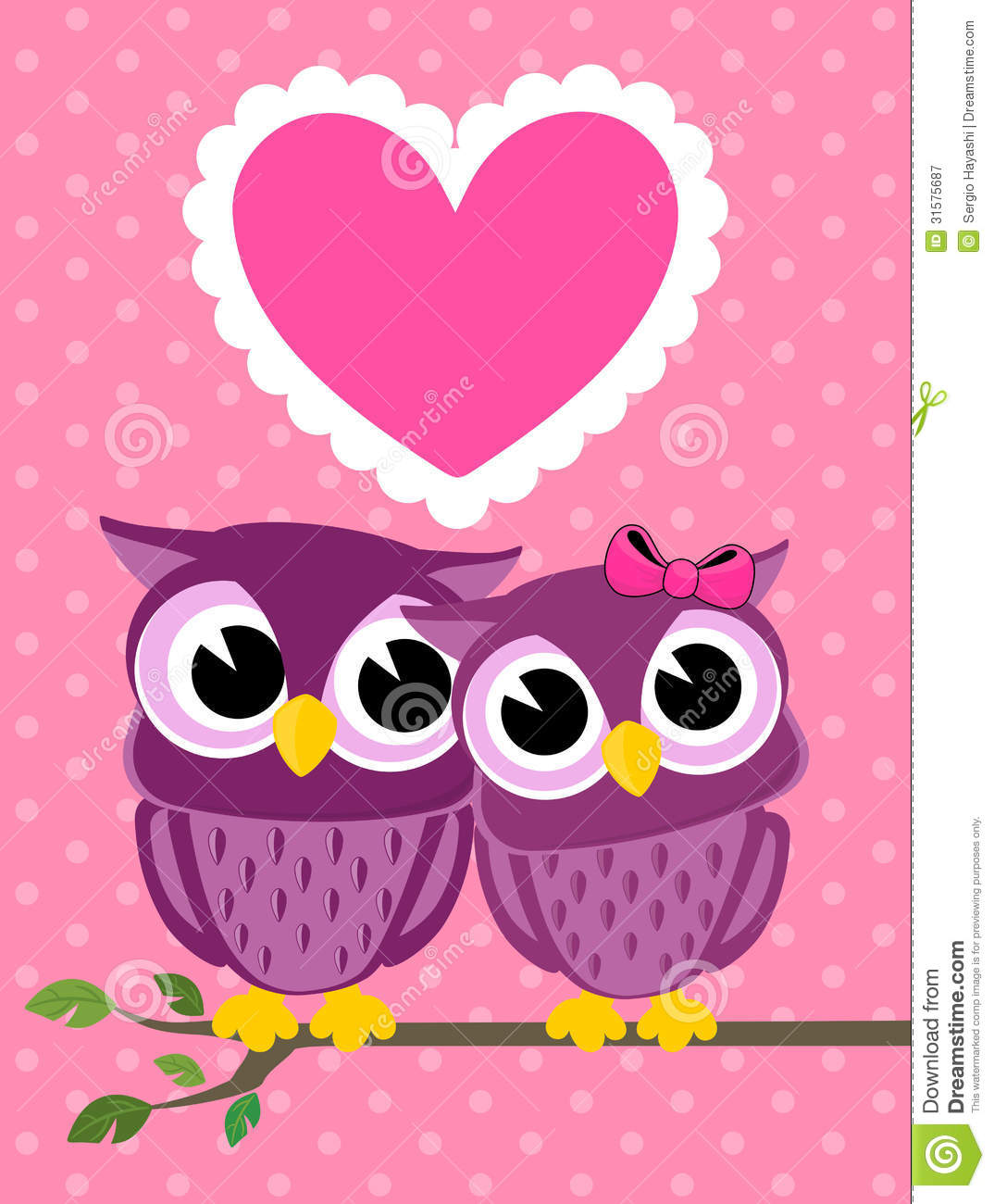 cute love birds owls greeting card stock vector illustration of