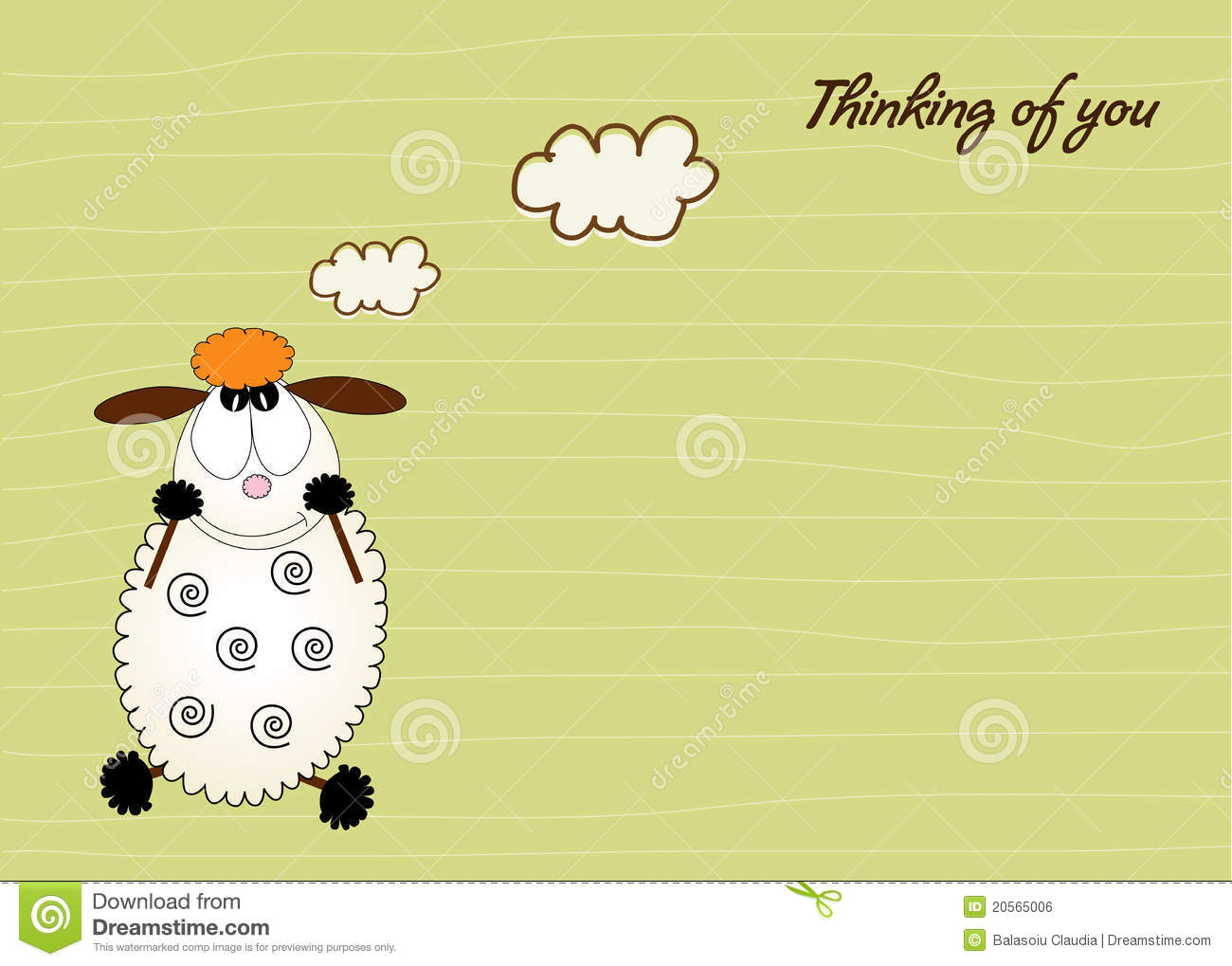 Cute Love Card With Sheep Royalty Free Stock Image - Image: 20565006