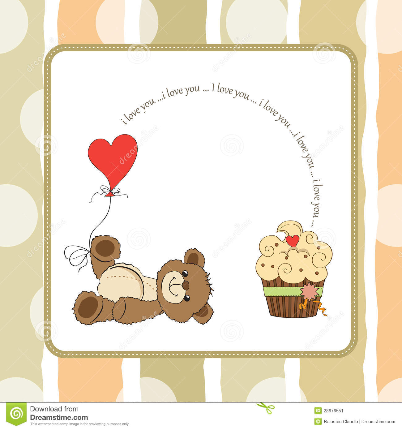 valentines day quotes 4 mom teddybear - Cute Love Card With Teddy Bear Stock Image Image