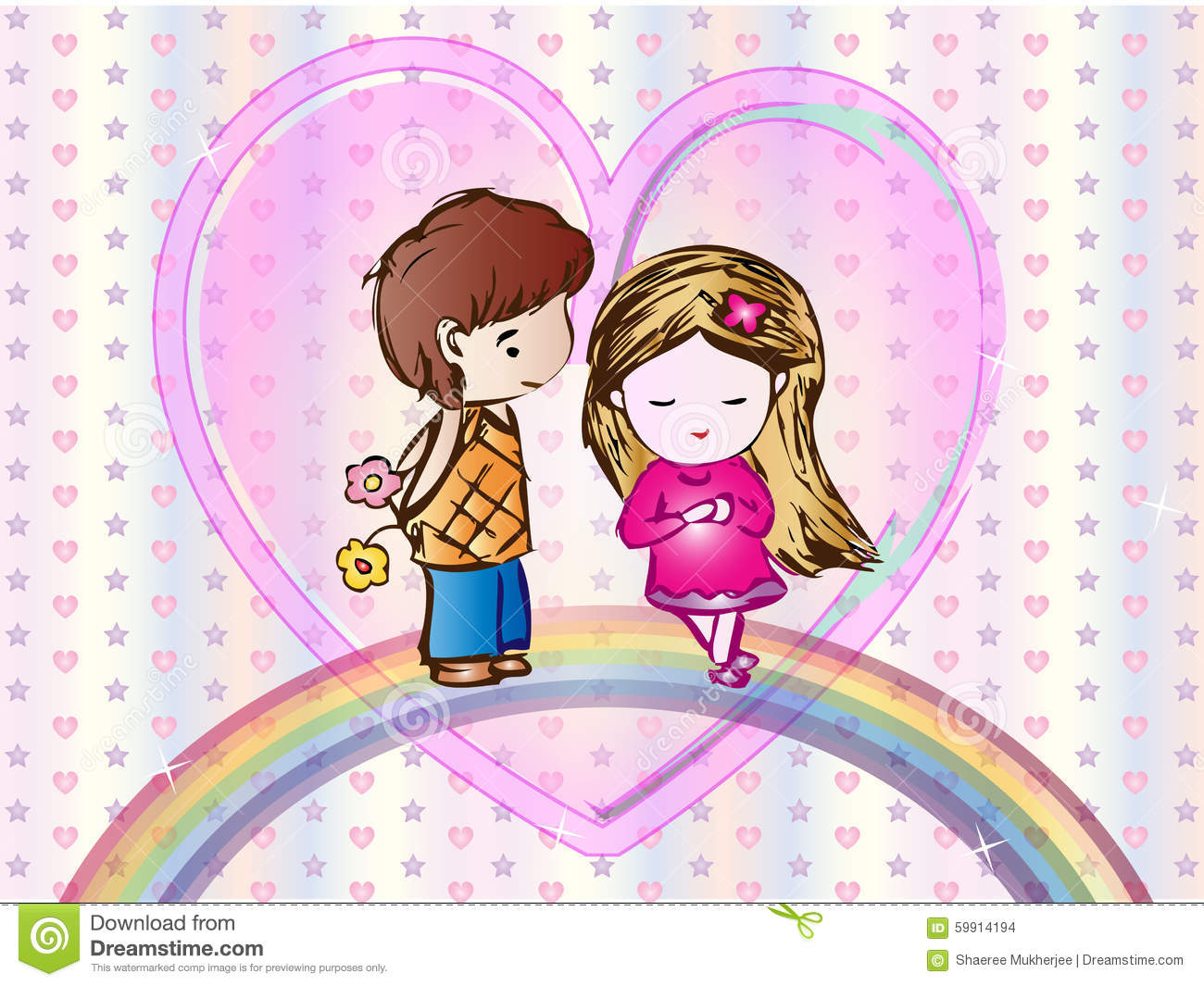 Love Boy cartoon Wallpaper : cute Love cartoon Wallpaper Stock Vector - Image: 59914194