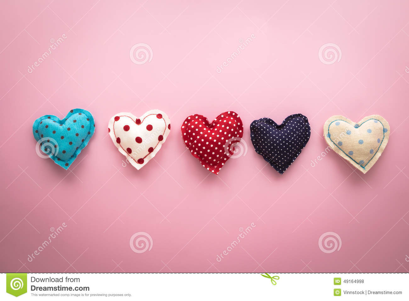 Cute Love Hearts Handmade Crafts For Valentine S Day Stock Photo