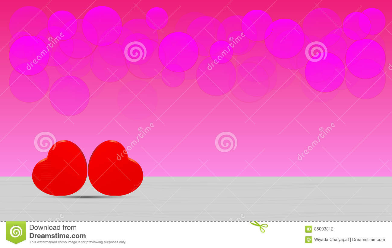 Cute Love Hearts Wallpaper Stock Vector Illustration Of