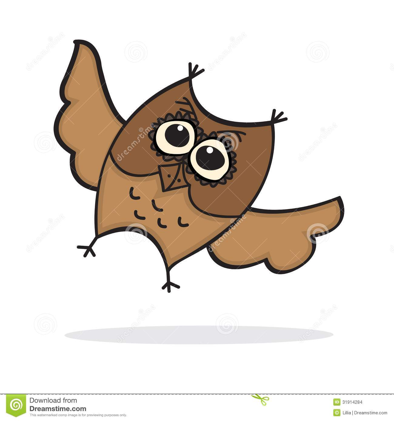 Cute lttle cartoon owl stock images image 31914284