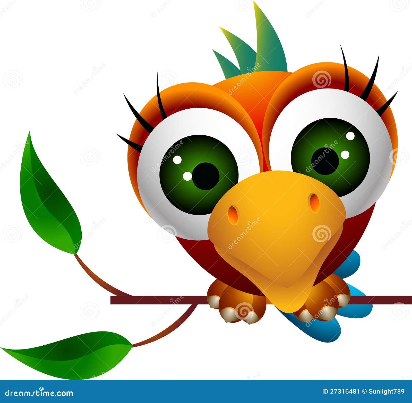 Cute Macaw Bird Cartoon Stock Image - Image: 27316481