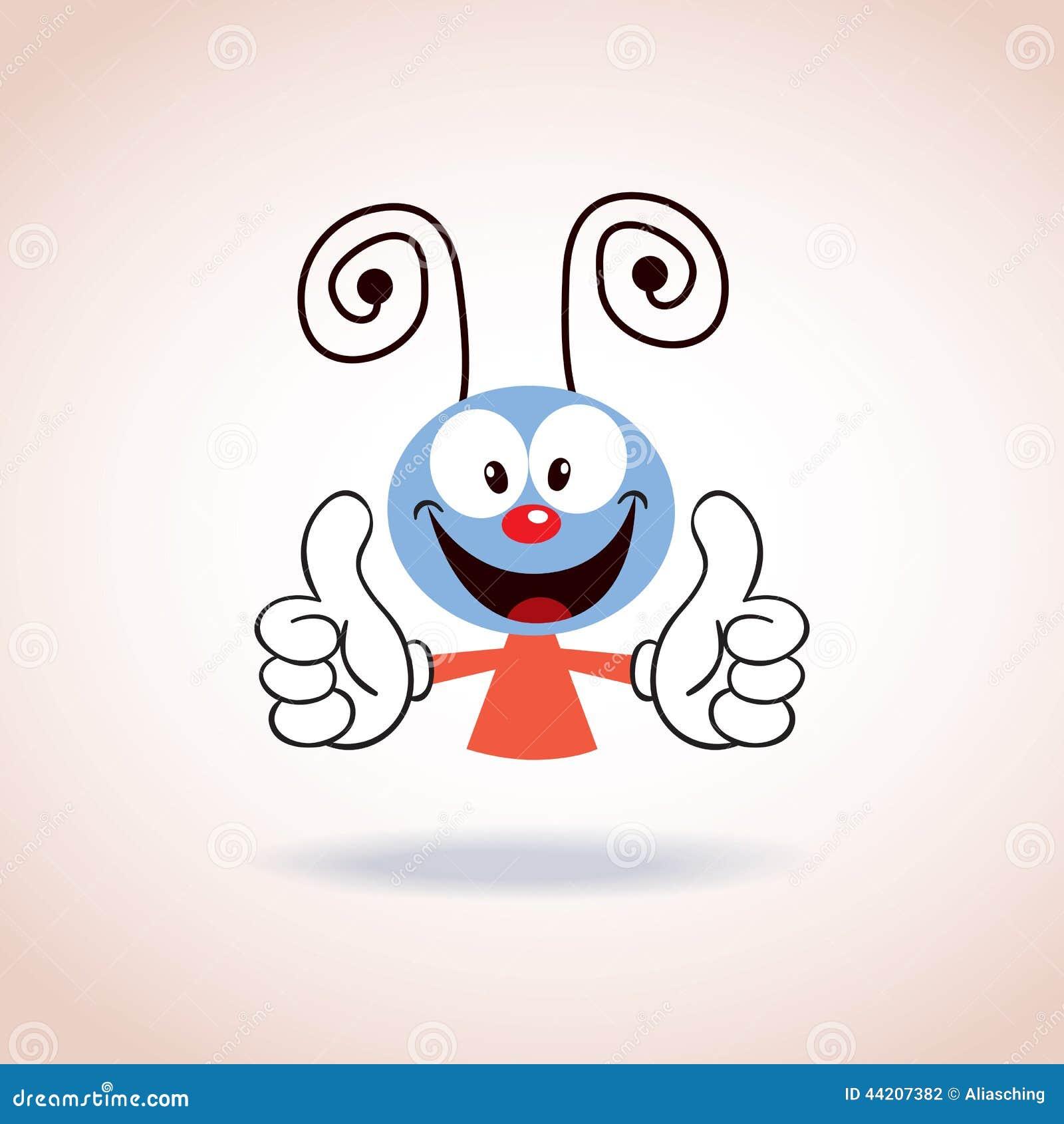 Stock Vector: Cute mascot cartoon character