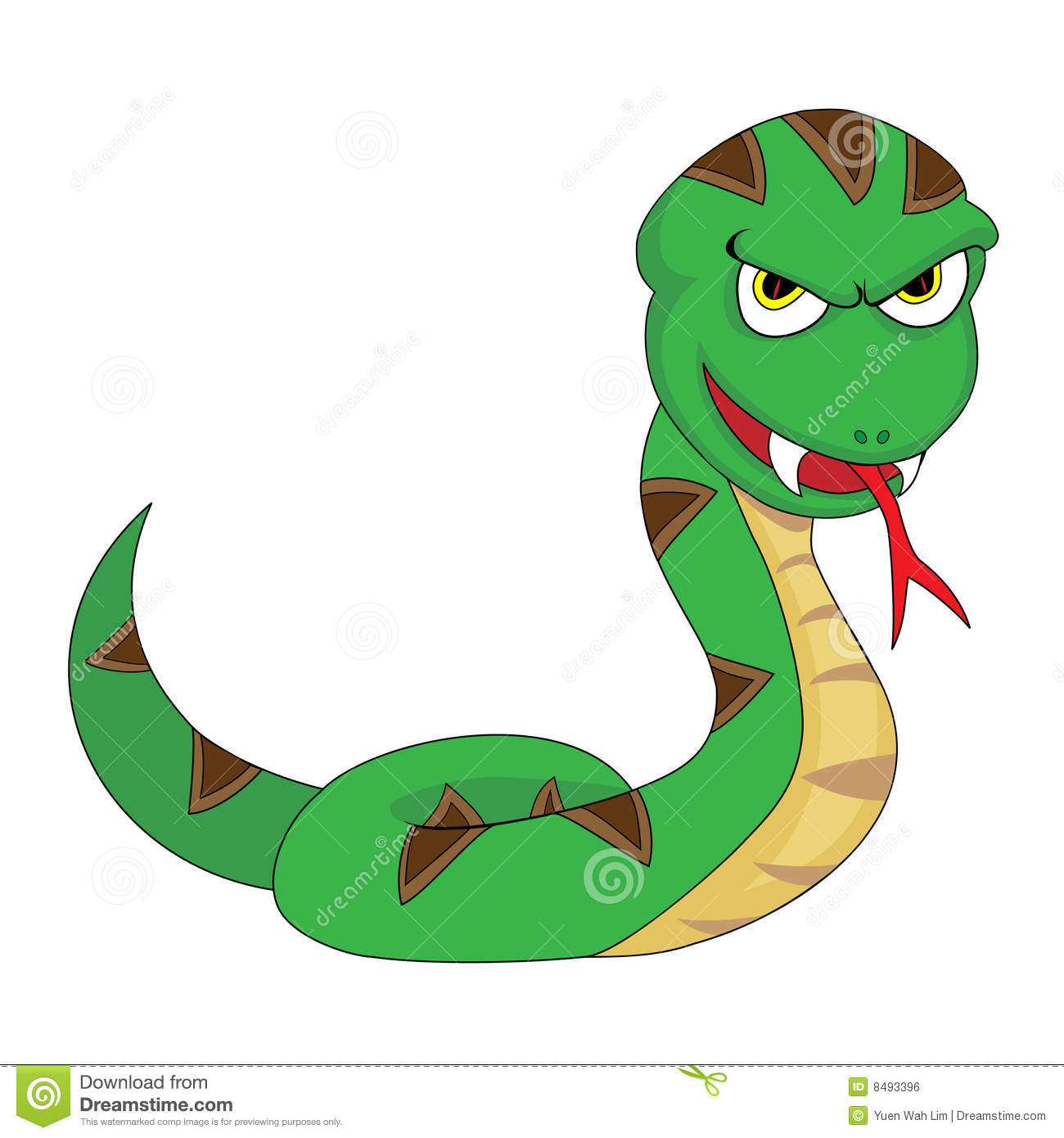 Cute Menacing Looking Snake Royalty Free Stock Image ...