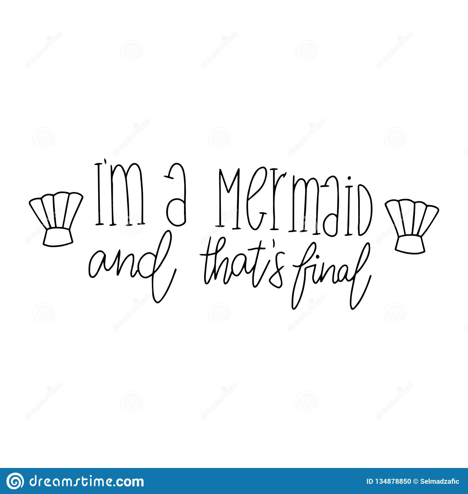 Cute Mermaid Card Hand Drawn Cute Inspirational Mermaid Quotes