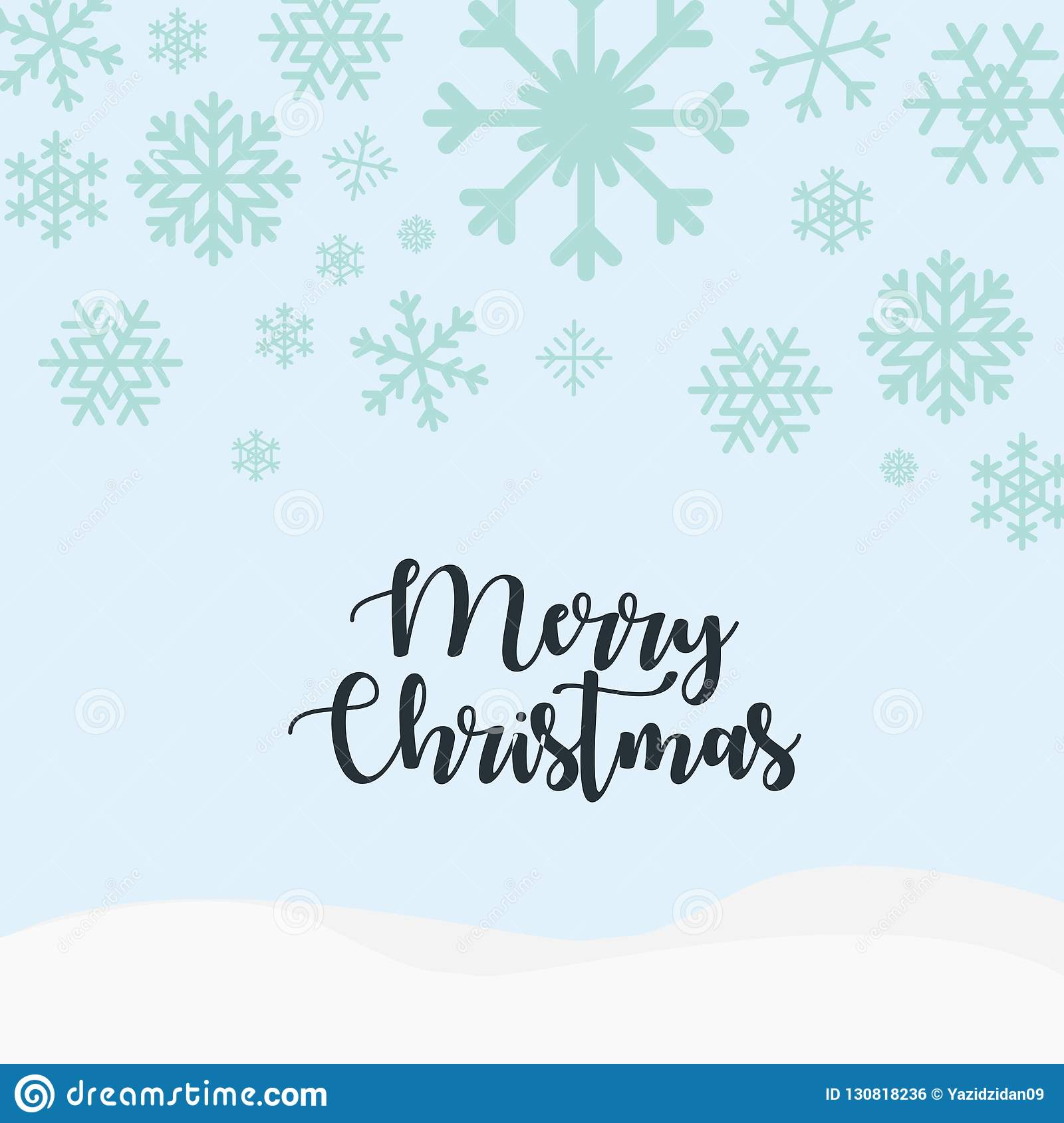 Cute Merry Christmas Greetings Card Background 2019 Stock