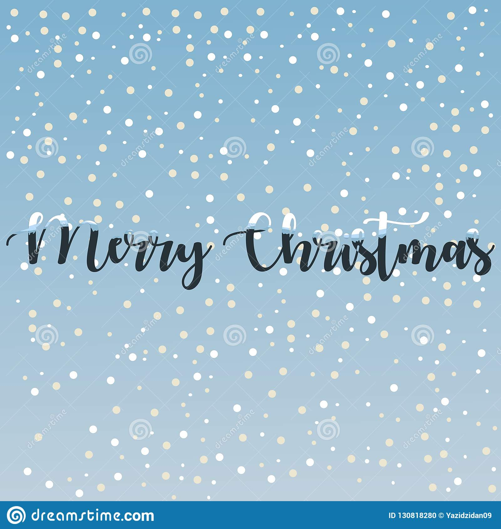 Cute Merry Christmas Greetings Card Vector Background 2019