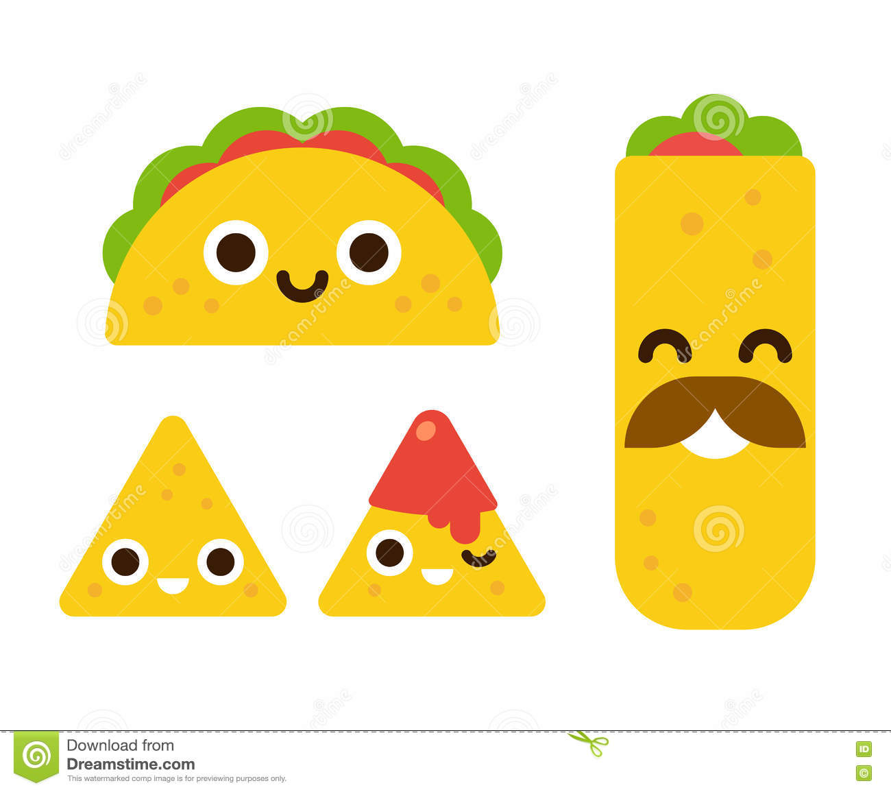 Cute mexican food stock vector. Illustration of mexican ...