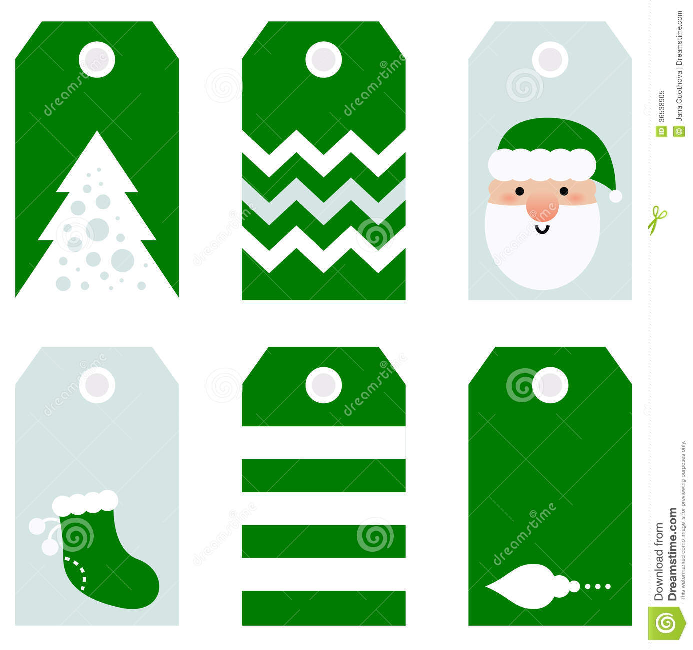 Cute Modern Christmas Holiday Gift Tags Printables Royalty Free Stock ...