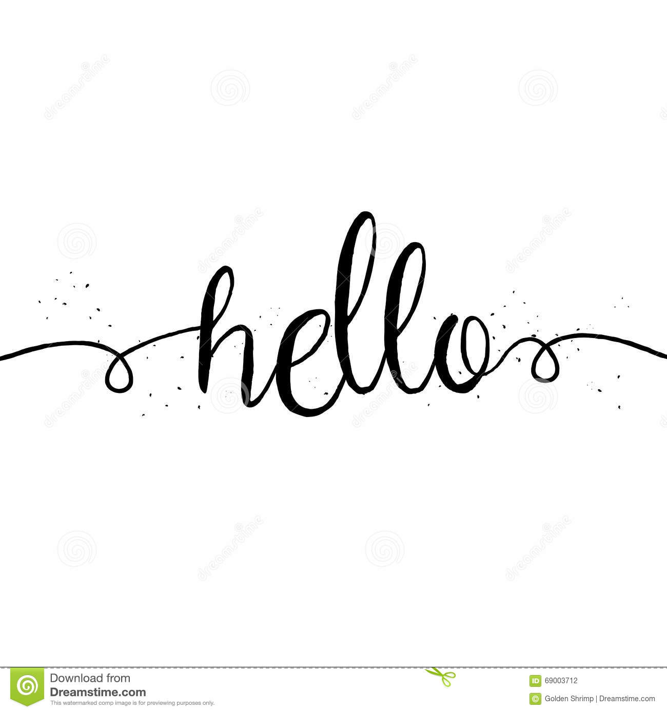 cute and modern hello saying greeting card stock vector