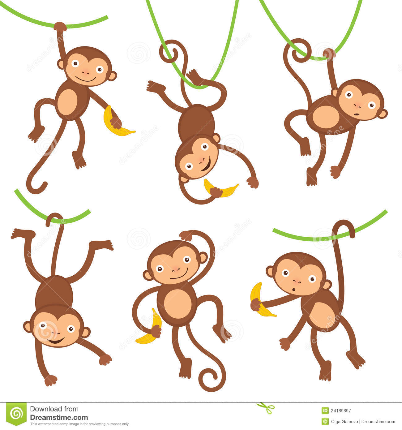 Cute Monkeys Collection Royalty Free Stock Photography - Image ...