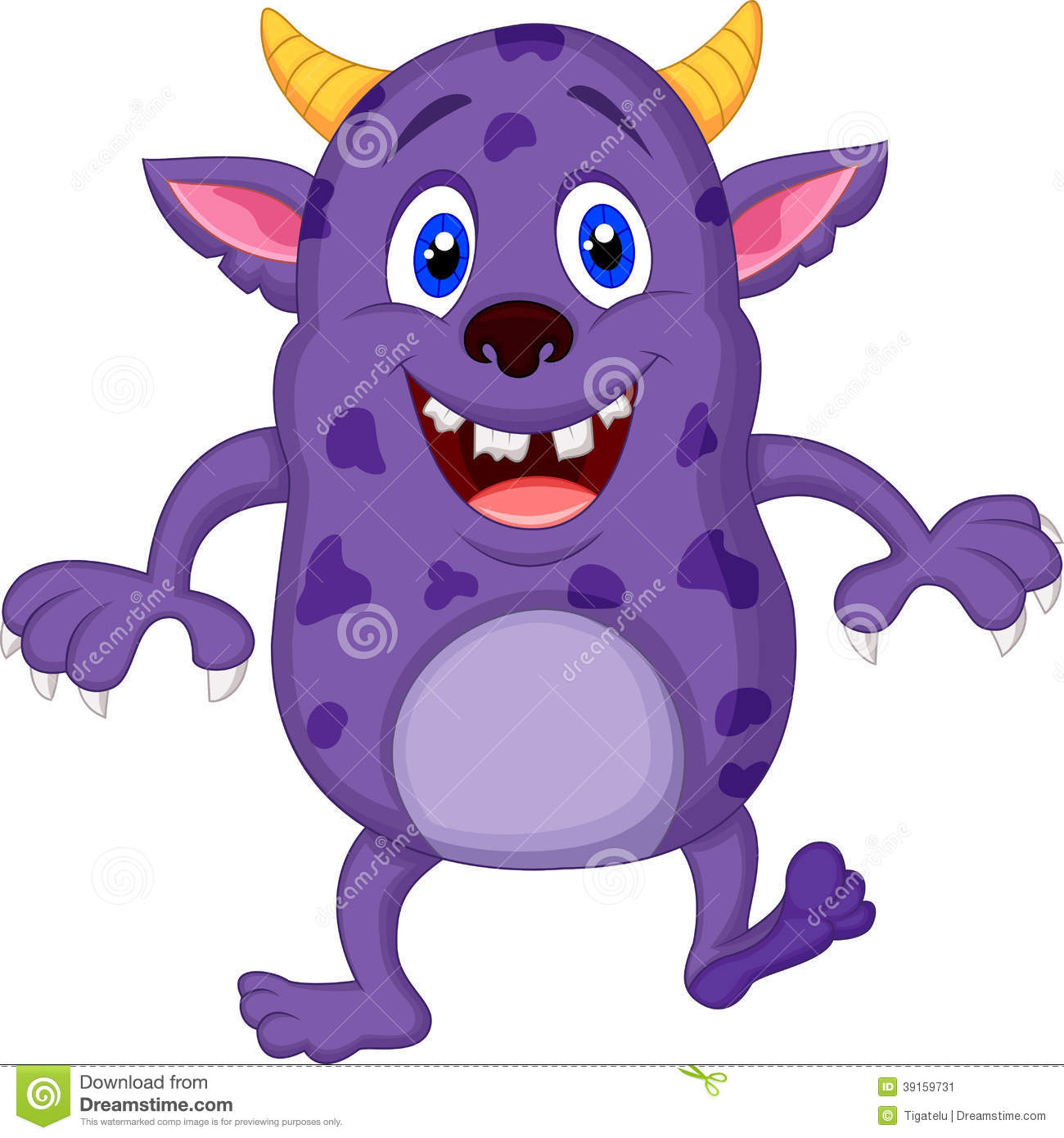 Cute Monster Cartoon Stock Vector - Image: 39159731