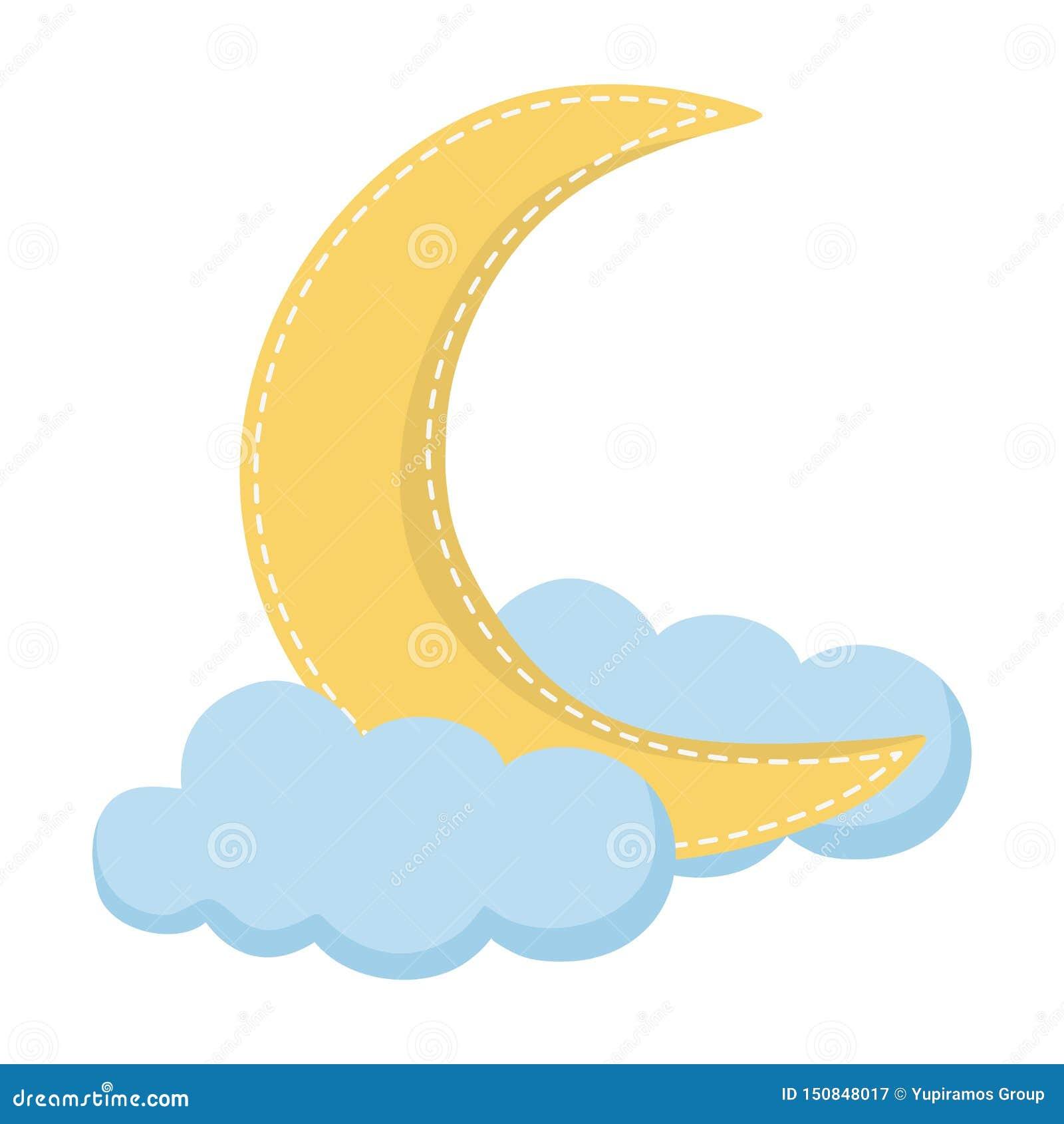 Cute moon design vector illustration