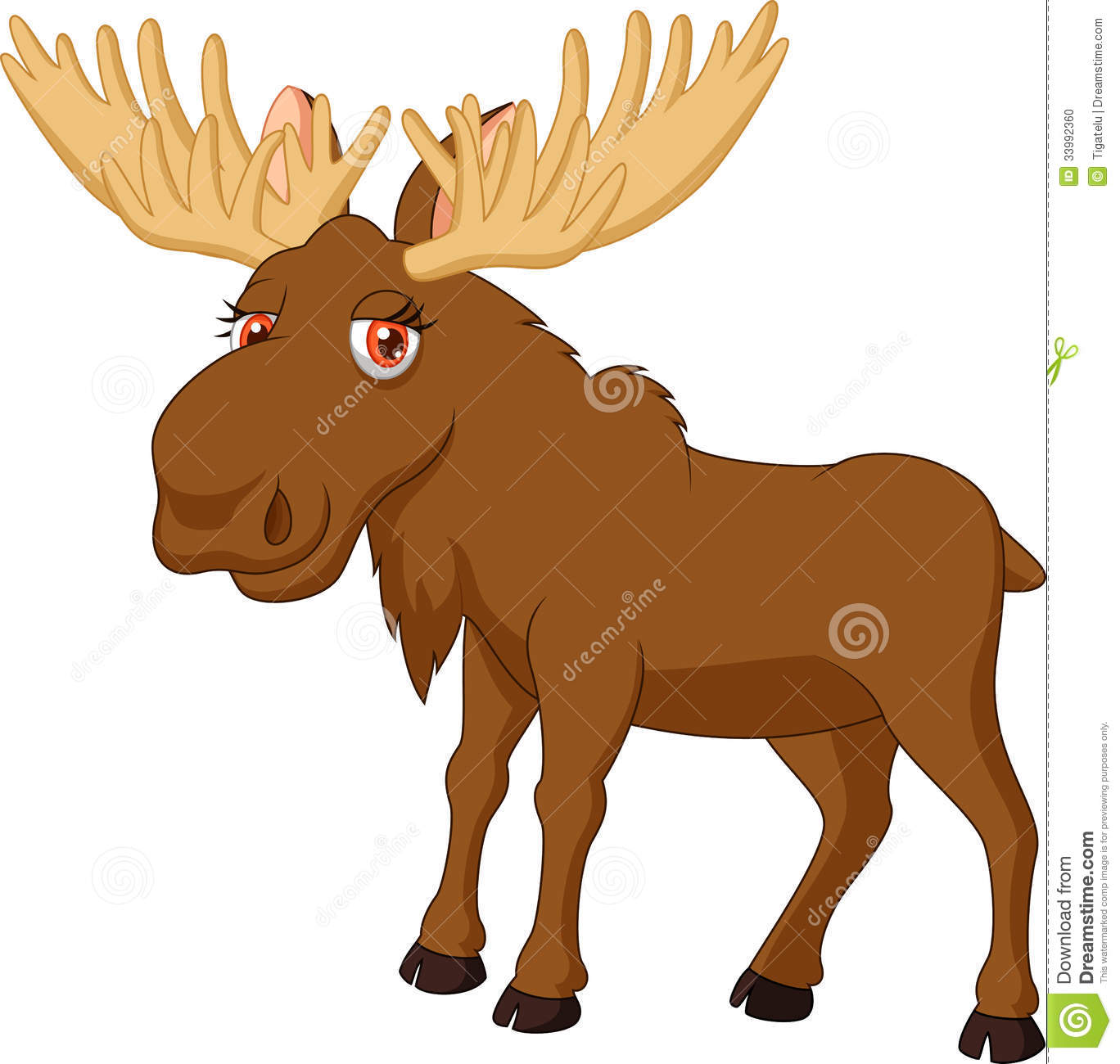 Cute moose cartoon sto...