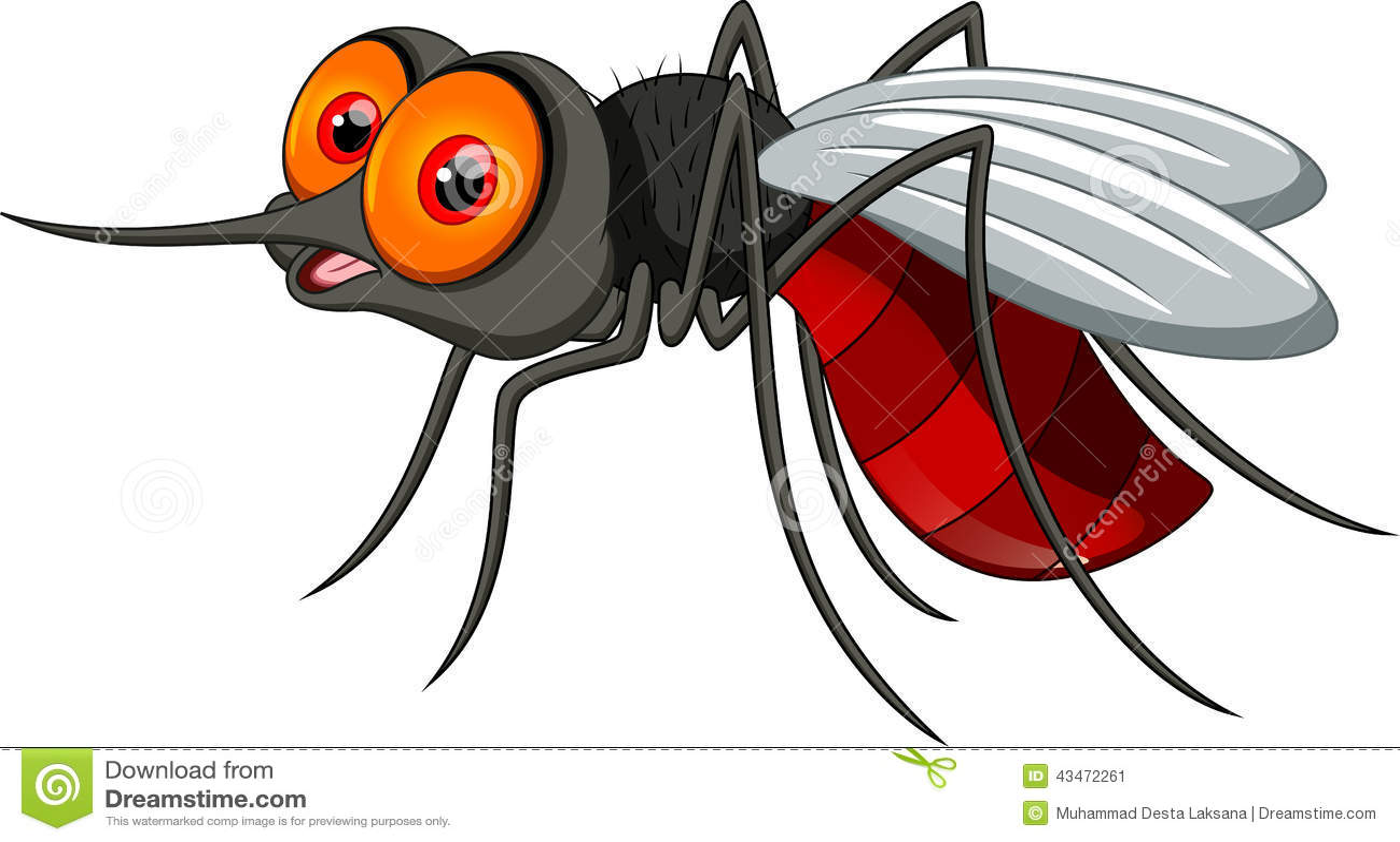 Cute Mosquito Cartoon Stock Illustration - Image: 43472261