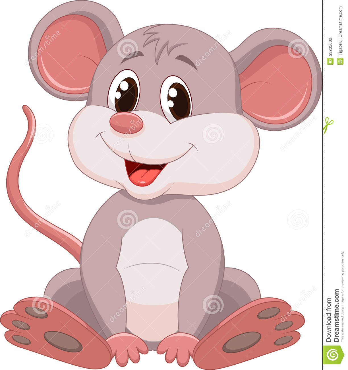 cute mouse cartoon stock photography image 33235602