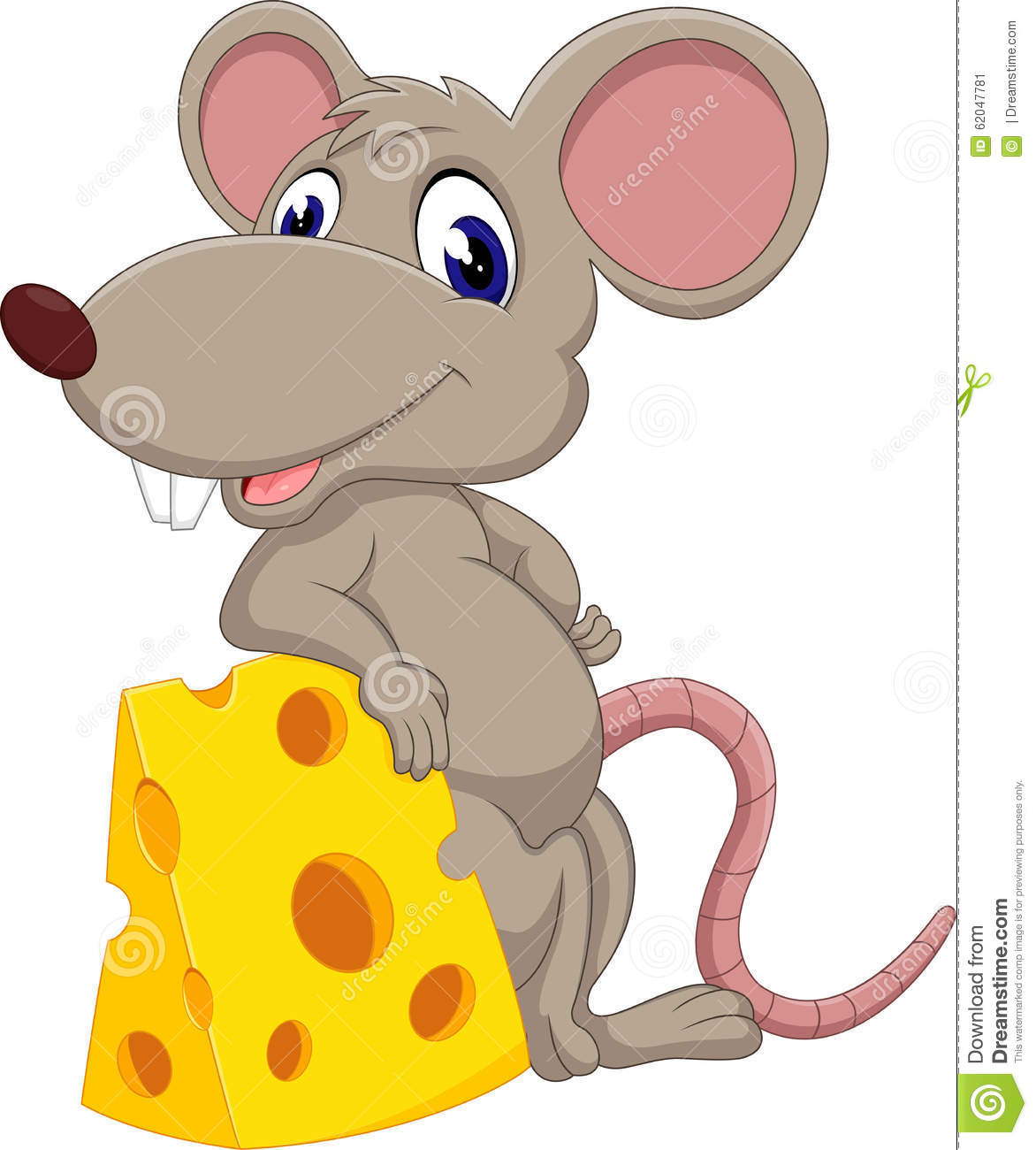 Cute Mouse Cartoon Stock Vector - Image: 62047781