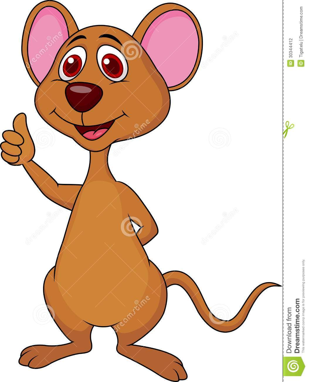 Cute Mouse Cartoon Thumb Up Stock Photography - Image ... Cute Baby Pointing Finger