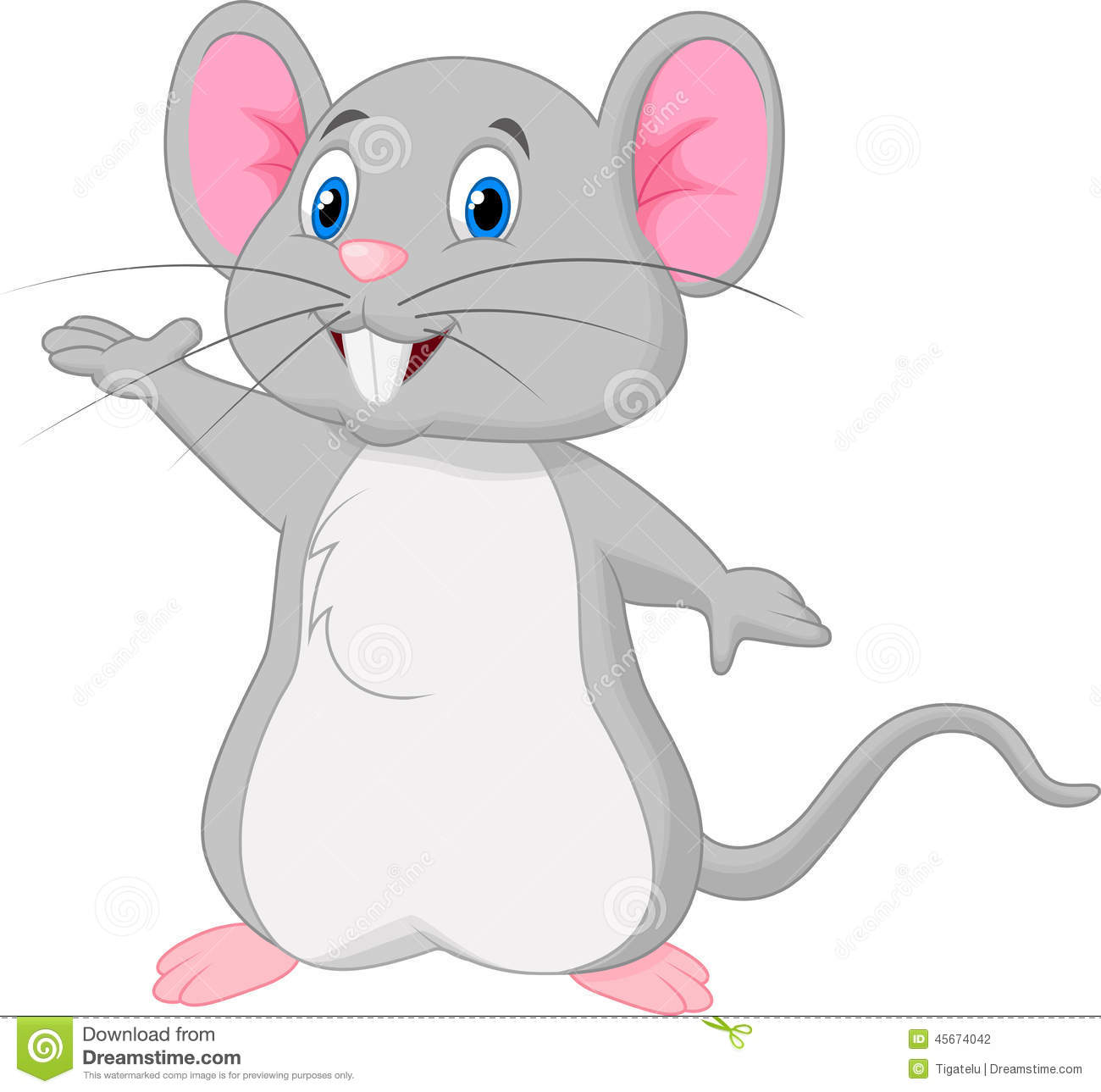 mad cartoon mouse doing a science experiment royalty free