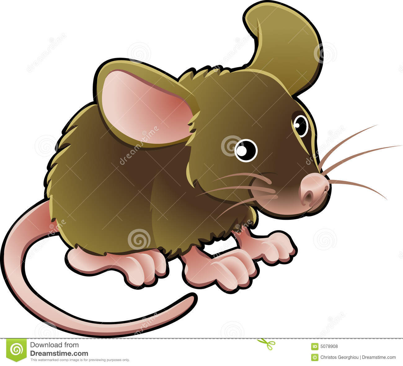 Cute Mouse Vector Illustration Stock Vector - Image: 5078908