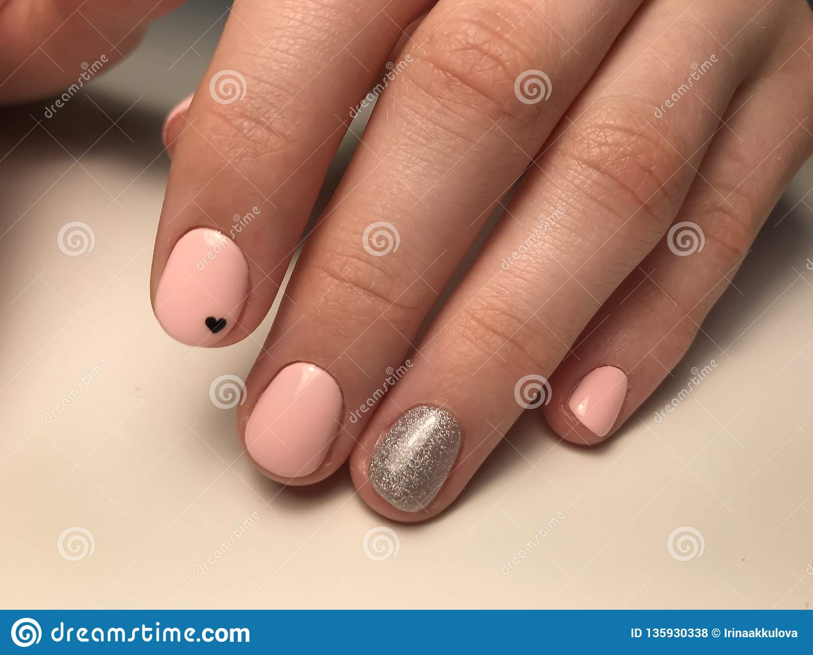 Cute Nail Design For Teenagers Stock Photo - Image of perfect ...