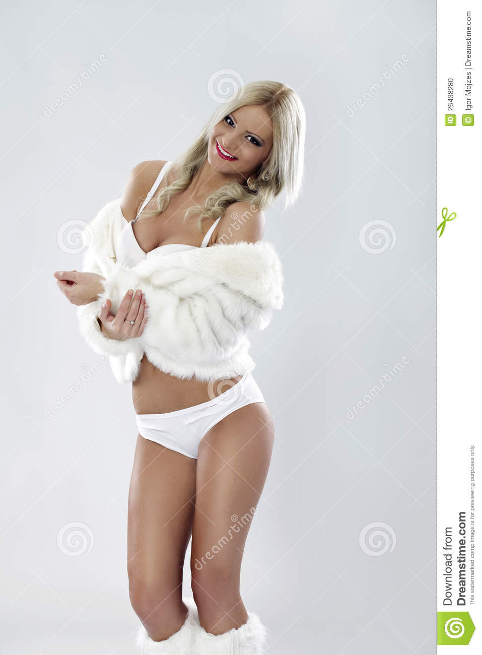 Picture Sexy Women Naked In Fur Coat 48