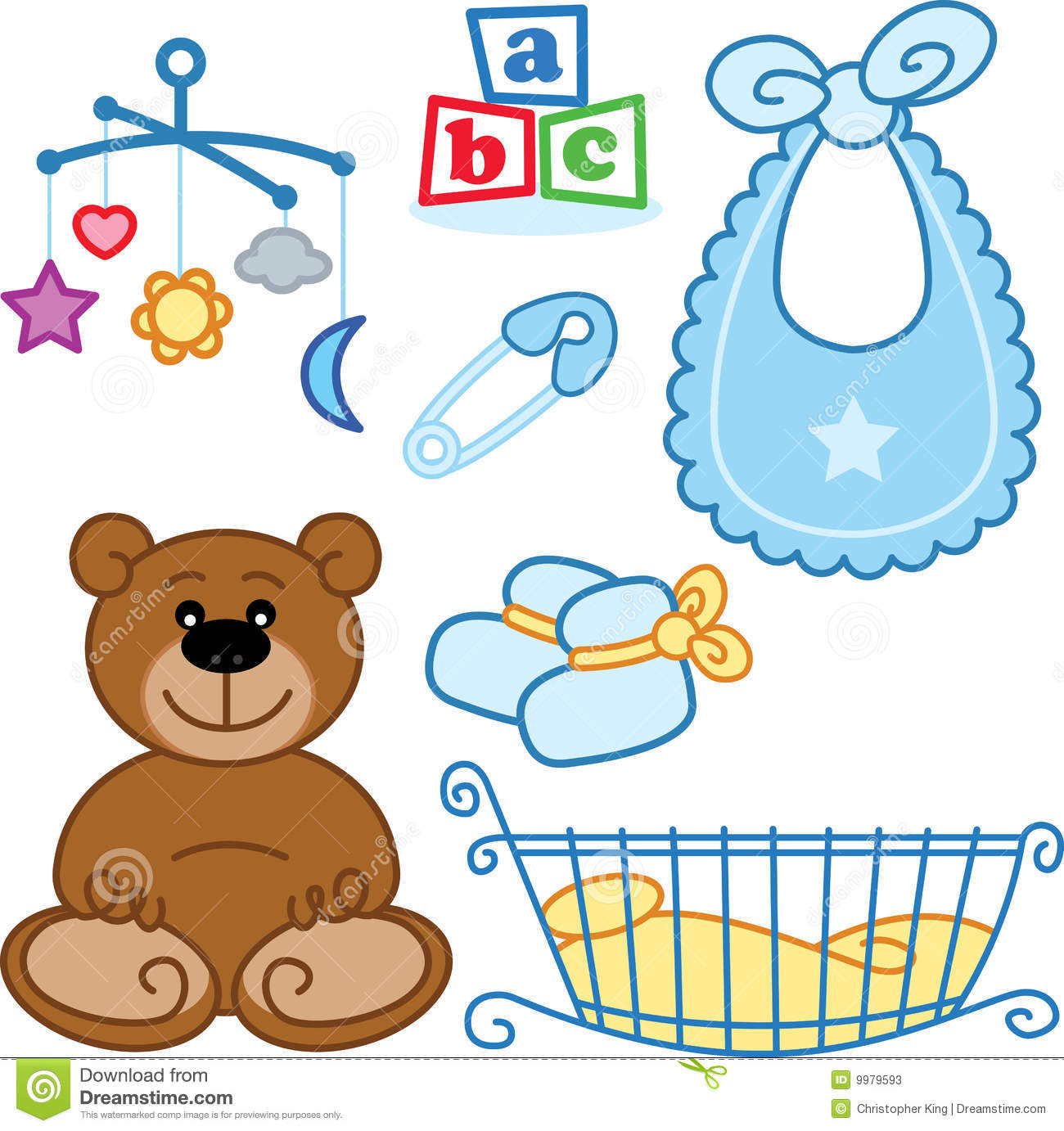 Cute New Born Baby Toys Graphic Elements Stock Photos