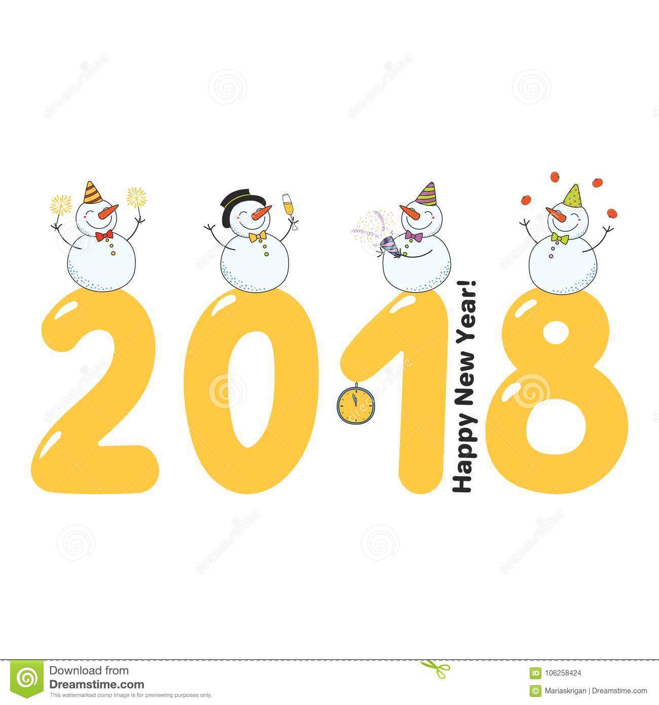 cute new year card banner