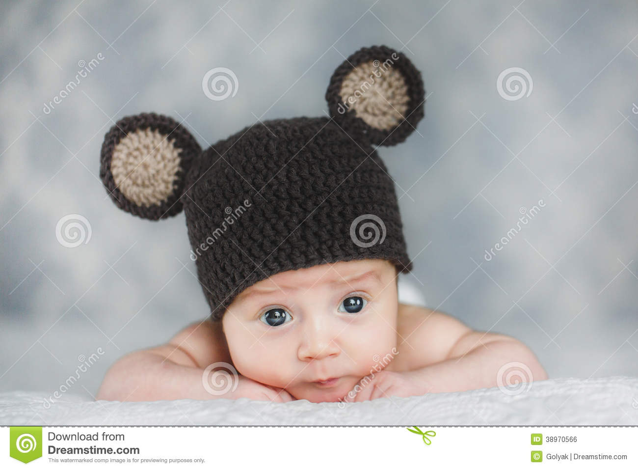 Cute Newborn Baby Boy In A Hat Stock Photo Image Of Beauty Girl