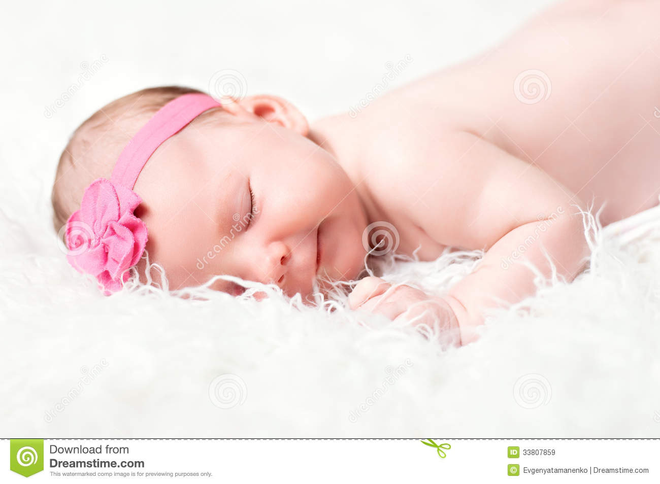 Cute newborn girl sleeping stock image. Image of ...