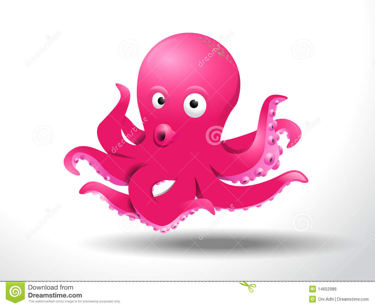 Cute Octopus Royalty Free Stock Image - Image: 14652986