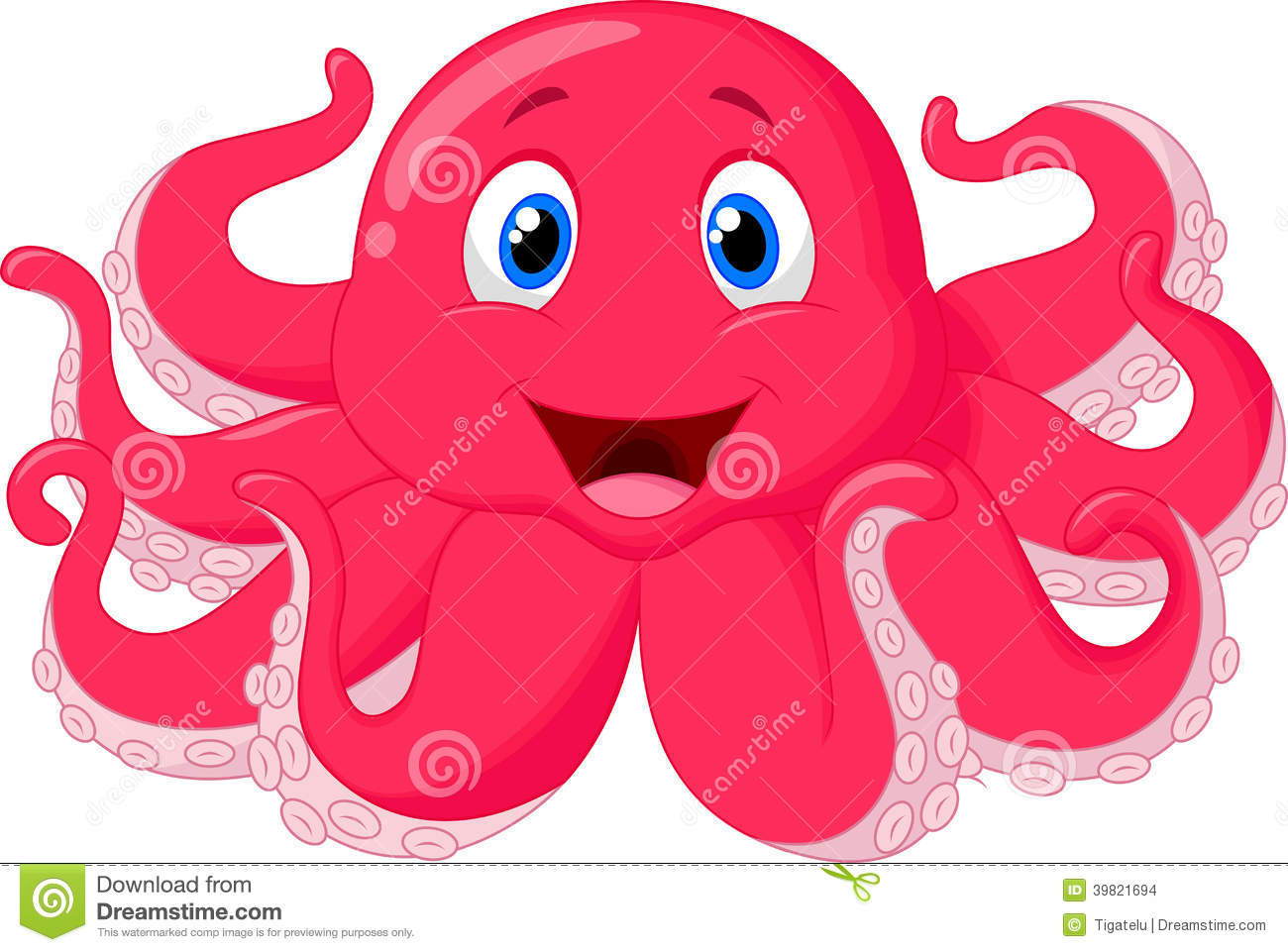 Pics for animated baby octopus for Baby octopus cartoon