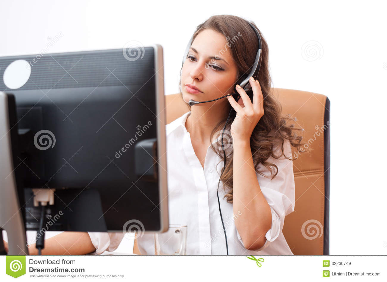Cute Office Girl Royalty Free Stock Images Image 32230749