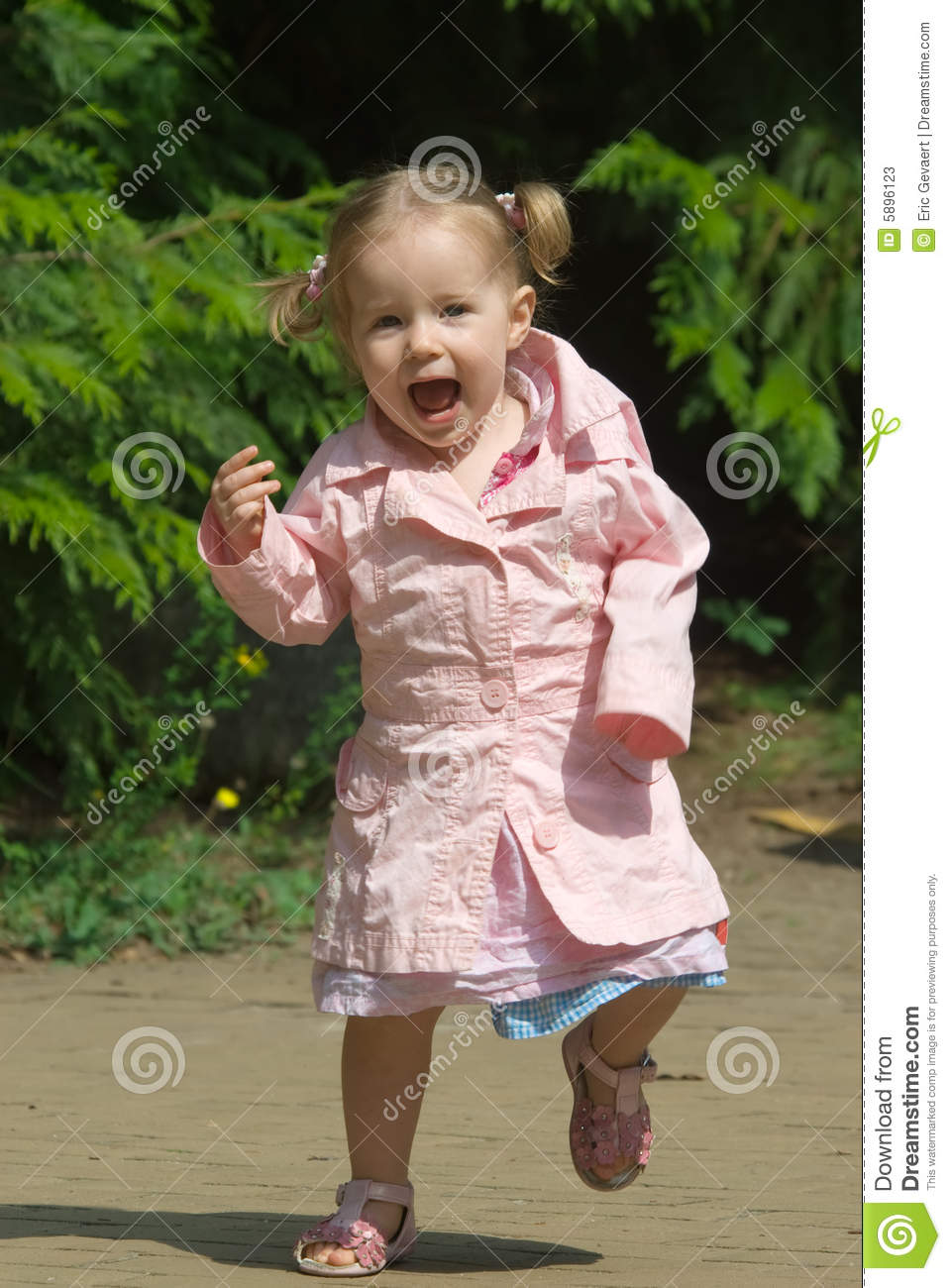 Cute One Year Old Girl Stock Image Image Of Happy