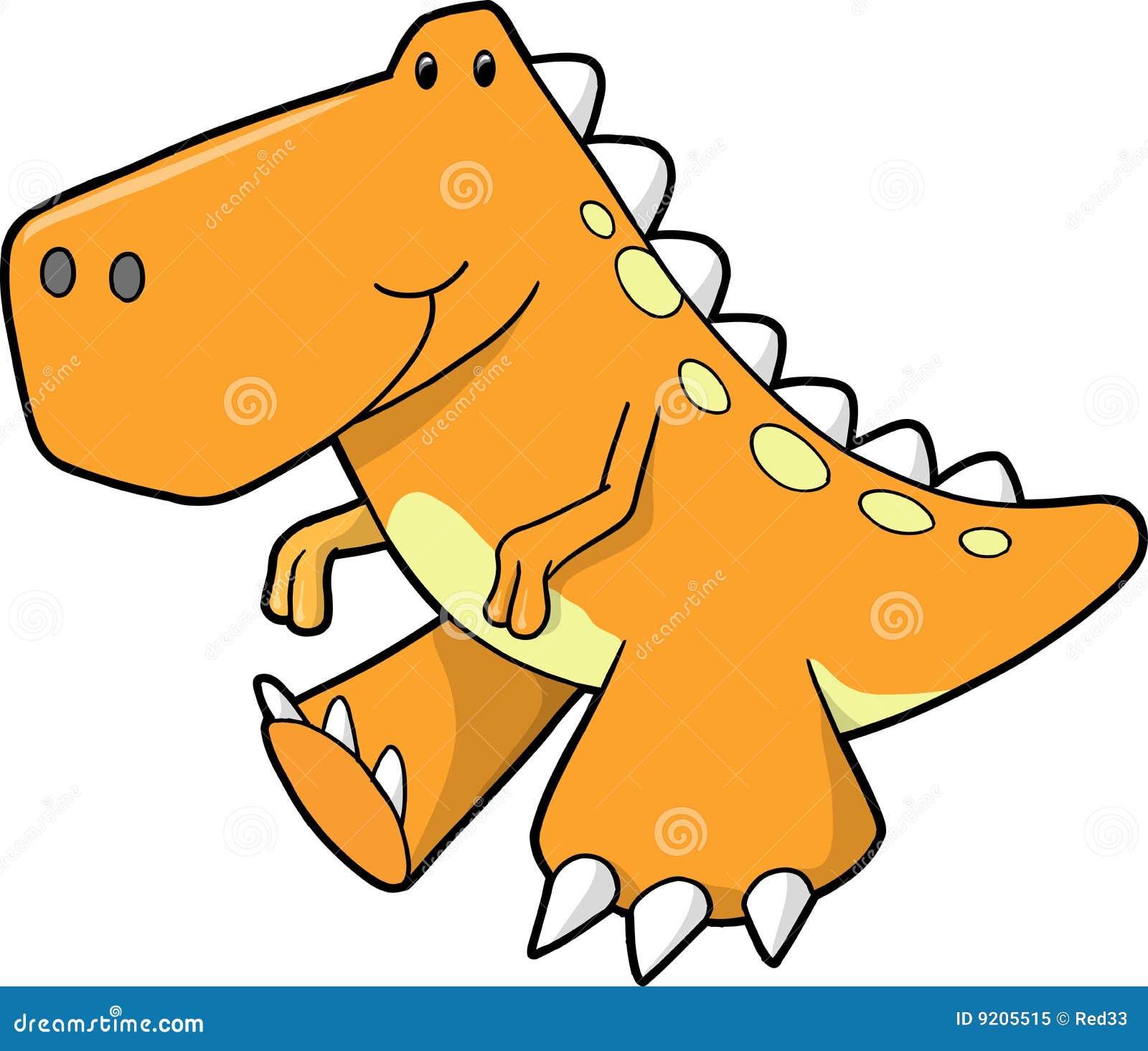 Cute Orange Dinosaur Vector Royalty Free Stock Photo - Image: 9205515