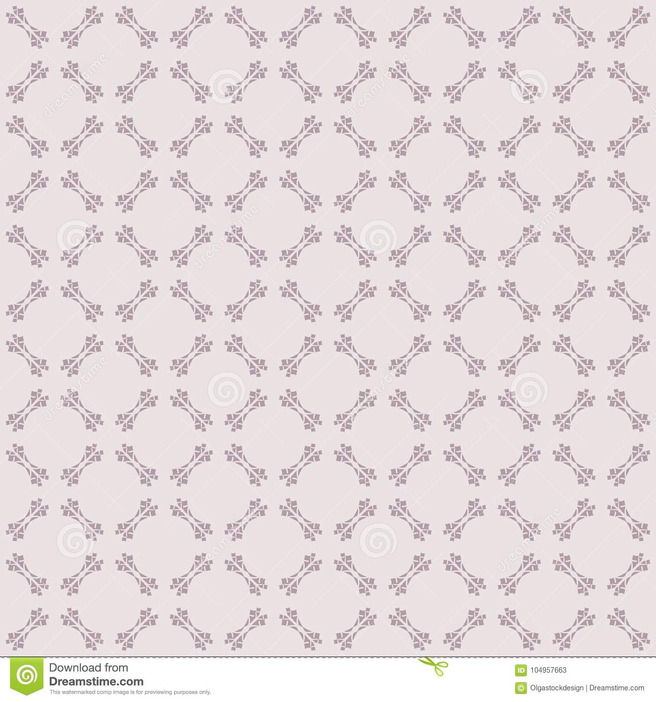 Cute Ornamental Seamless Pattern With Carved Shapes Grid Lace