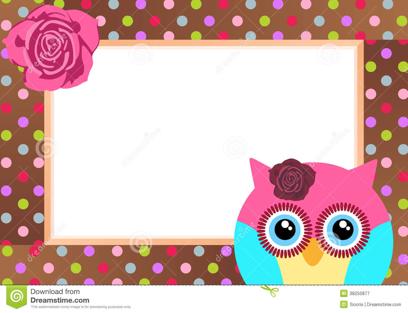 cute owl with bank label stock vector illustration of flying 38250877