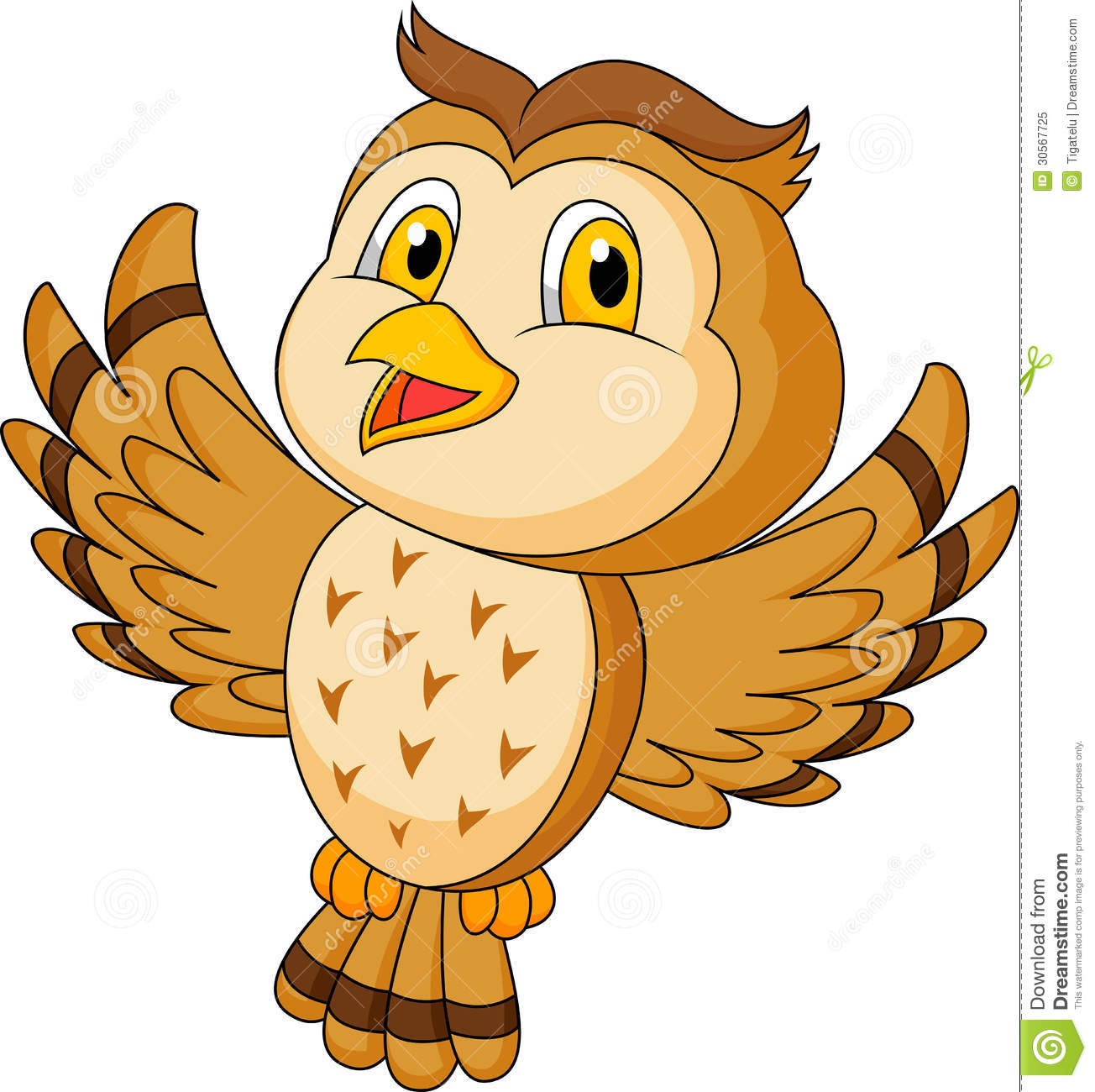 Cute owl cartoon flying stock vector illustration of comic 30567725 cute owl cartoon flying voltagebd Image collections