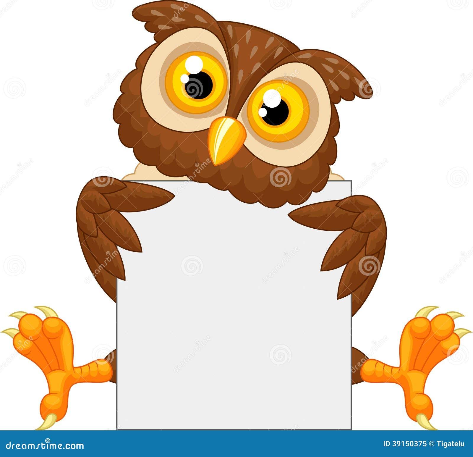 cute owl cartoon holding blank sign stock vector image cute dinosaur clipart black and white cute baby dinosaur clipart