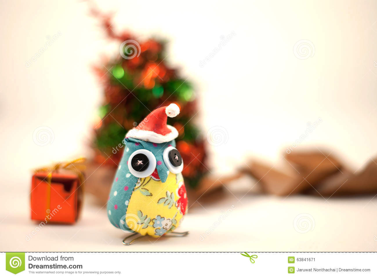 download cute owl christmas deorations stock image image of retro celebration 63841671