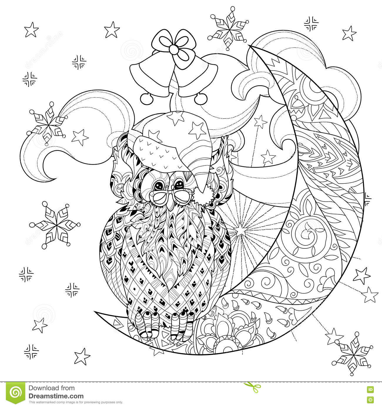 Half Moon Tattoo Coloring Pages