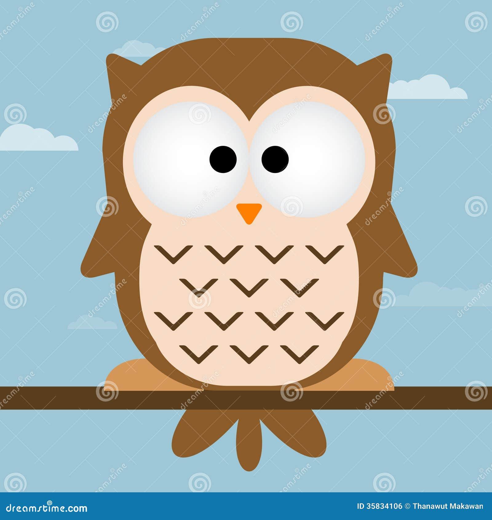 Cute owl illustration stock vector illustration of bird 35834106 cute owl illustration voltagebd Image collections