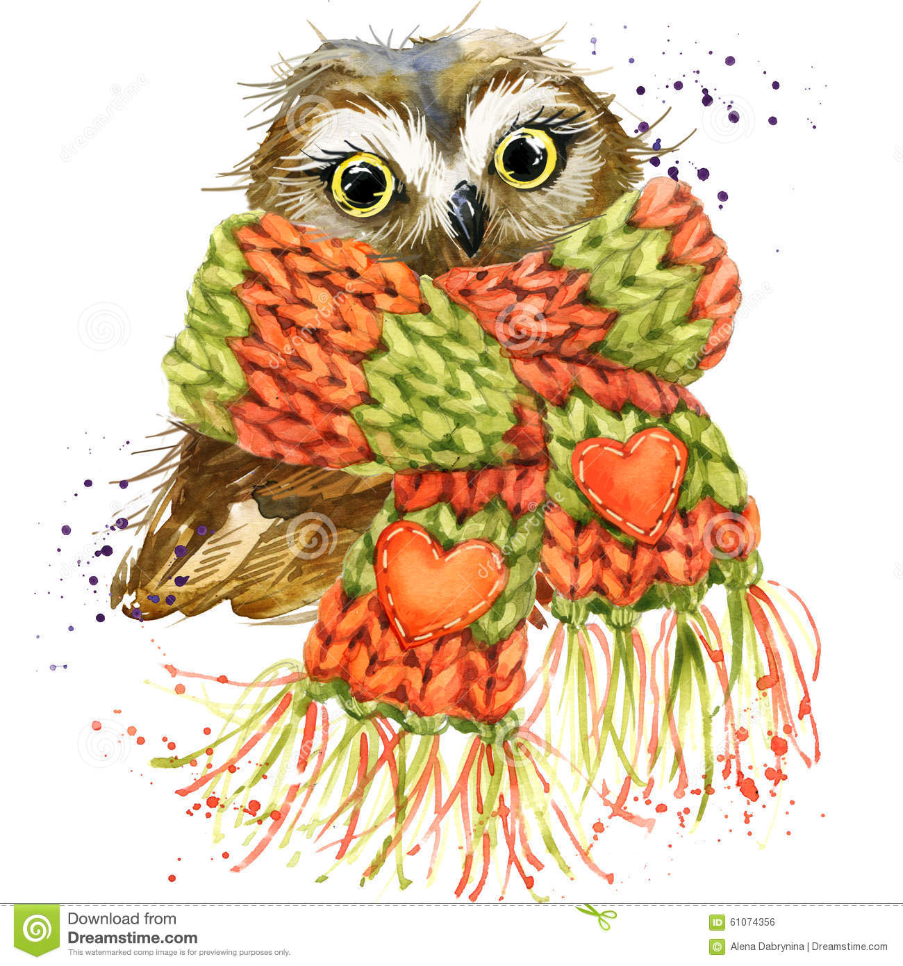 Cute Owl T-shirt Graphics, Snowy Owl Illustration With ...